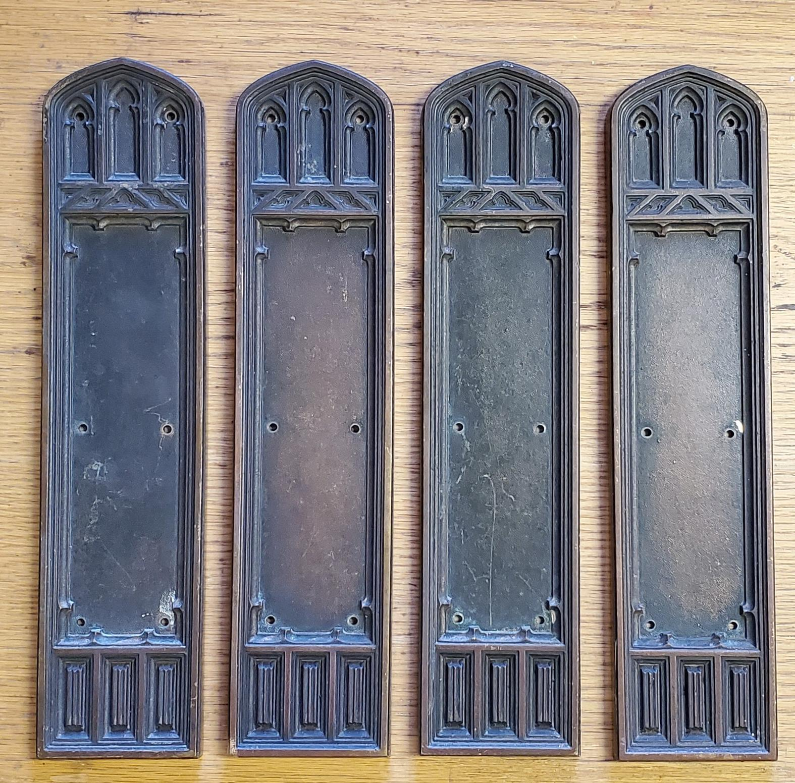 Gothic Push Plate-s Door Hardware
