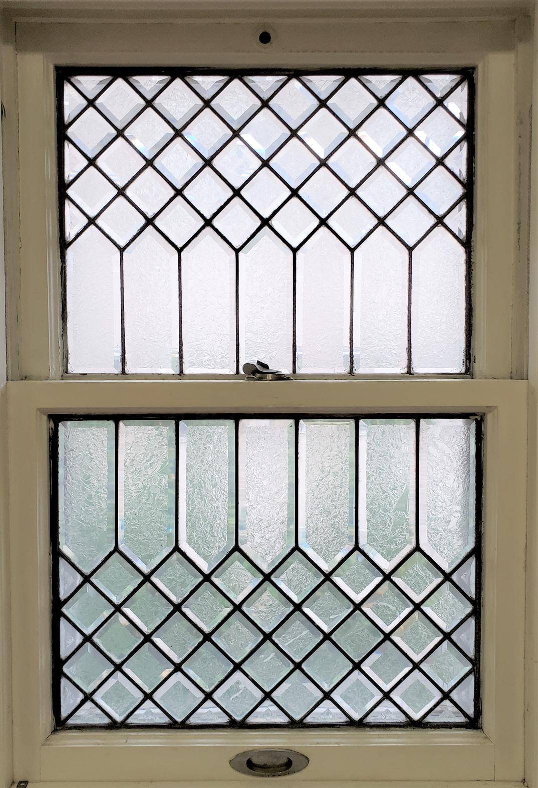 Leaded Etched Glass WIndow-s