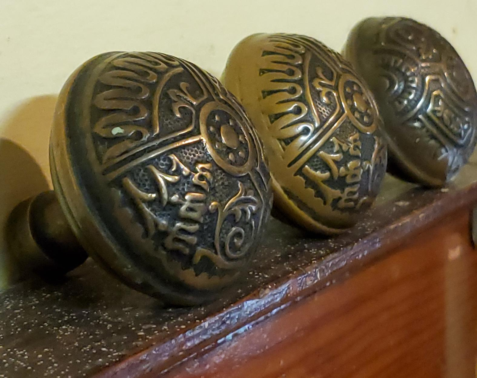 Eastlake Brass Knob-s