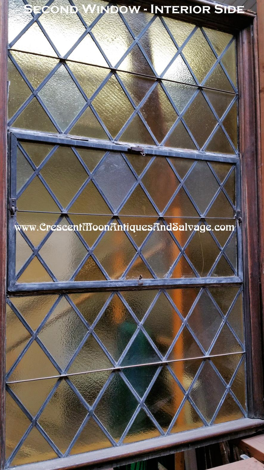 Large Stained Glass And Diamond Shape Leaded Window S