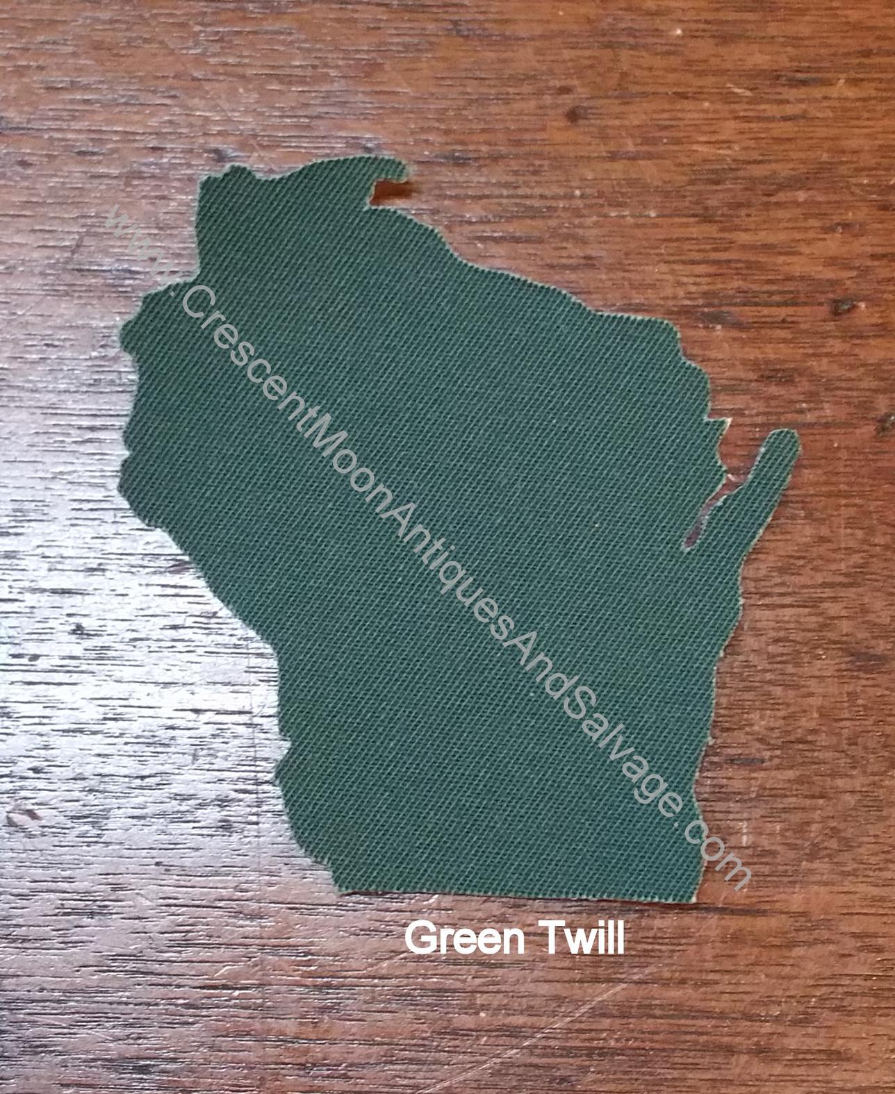 Oshkosh BGosh Green Twill WI Patch