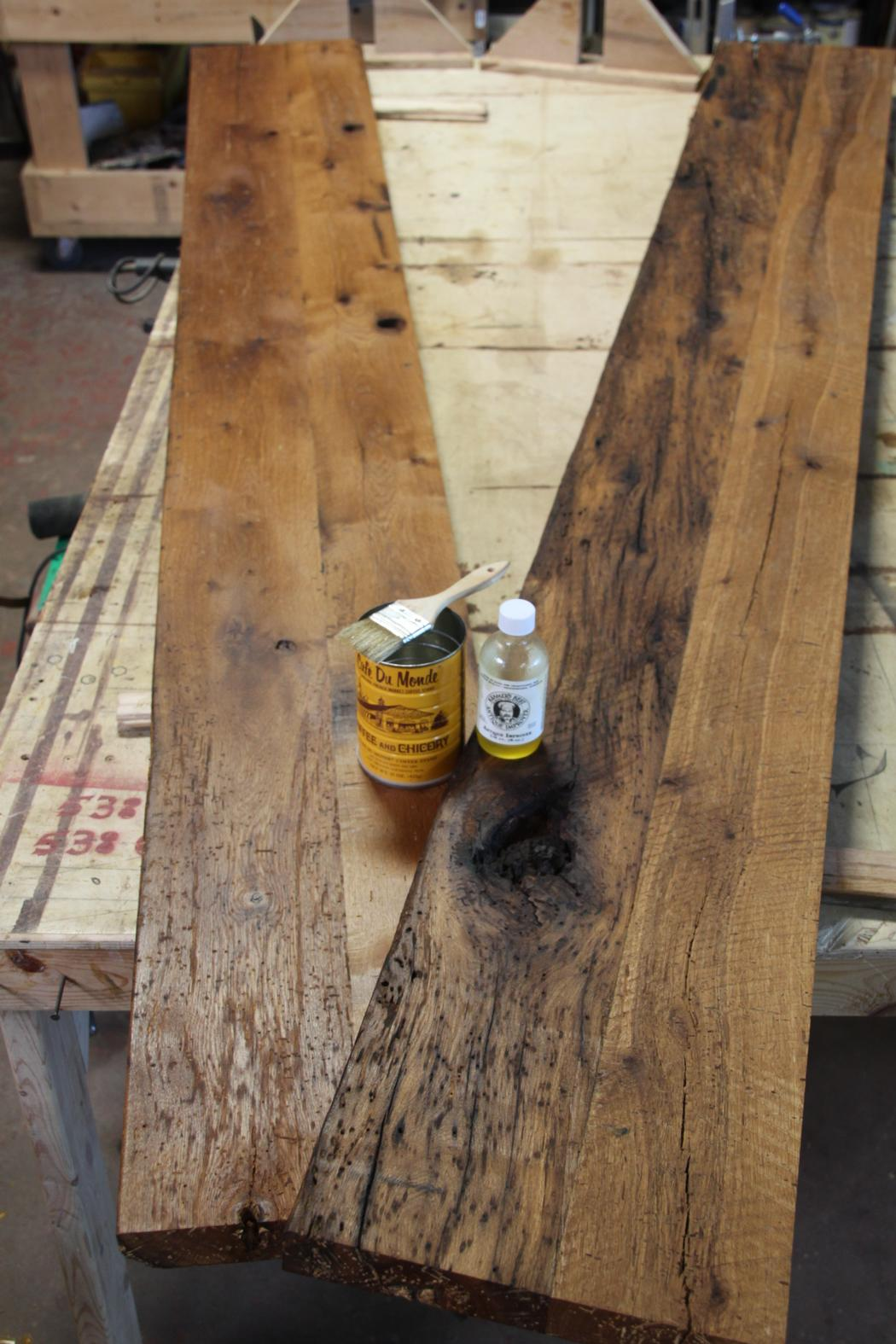 "Reclaimed, antique White Oak, ""Raw Material"" milled from ..."