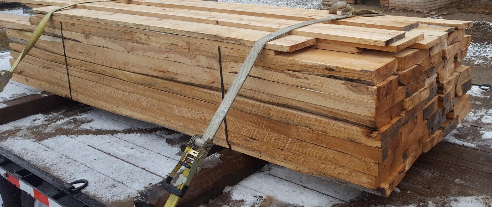 Rock Elm BLANKS sawn from Barn Beams - rare wood species