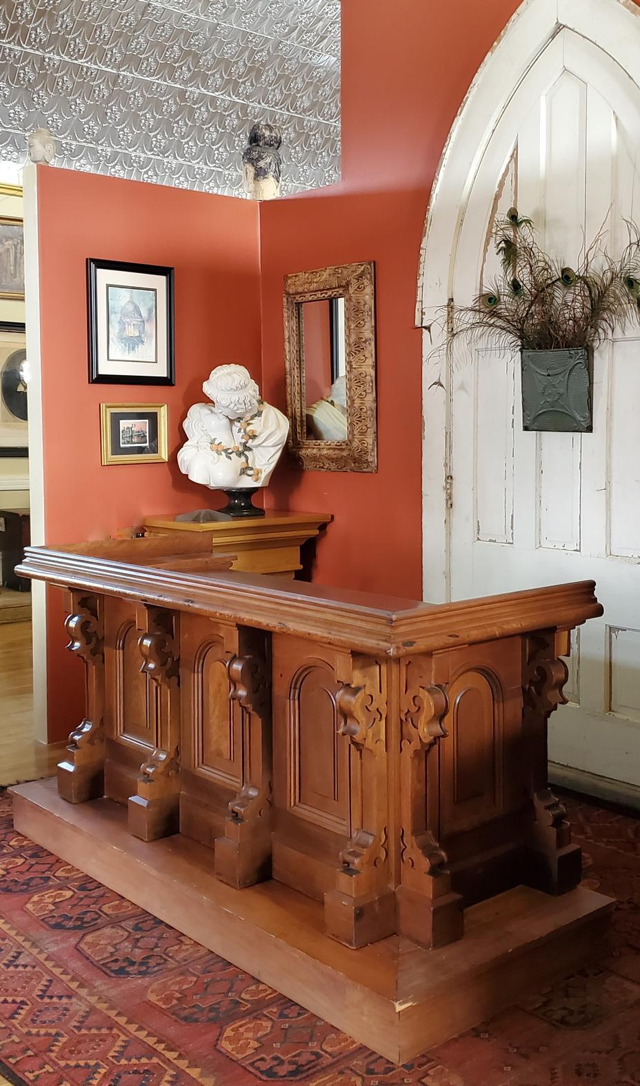 Gothic Walnut Partner's Desk